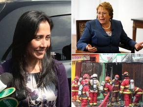 Resumen: Acusan a Nadine Heredia de ser accionista de empresa de Belaunde Lossio, otorgan crédito de US$ 10 millones a nuera de Bachelet y un incendio en el cercado de Lima afecta más de 30 inmuebles