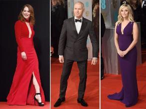Premios Bafta: elegancia en la alfombra roja
