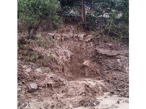 Huaico en Chosica deja varias viviendas afectadas