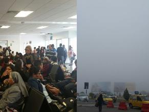 Mal clima afecta salida de aviones en Arequipa