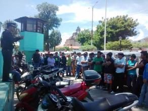 Cajamarca: policía interviene a 350 mototaxis y motos lineales
