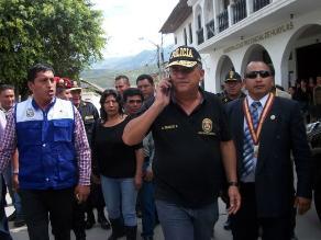 Urresti arribó a Caraz para garantizar mayor seguridad a la ciudadanía