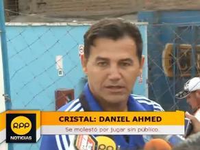 Sporting Cristal: Daniel Ahmed contrariado por jugar a puertas cerradas