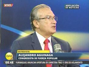 Fujimorista Aguinaga pide renuncia de Joel Segura