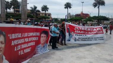 La Centralita: piden liberación de exdirigentes de construcción civil