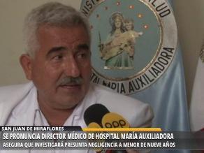 María Auxiliadora: realizarán auditoría médica por