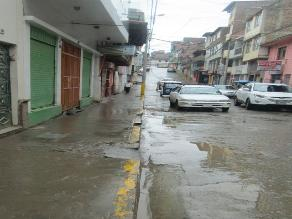 Apurímac: se forman riachuelos en las calles por constantes lluvias