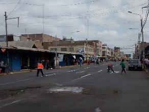 Chiclayo: inician pintado y señalización de vías en el Mercado Modelo