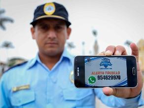 Trujillo: Atenderán denuncias de inseguridad vía Whatsapp