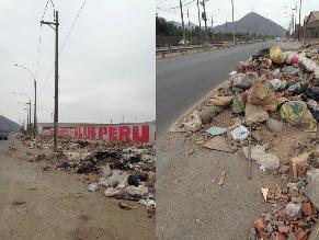 SJL: basura bordea la autopista Ramiro Prialé