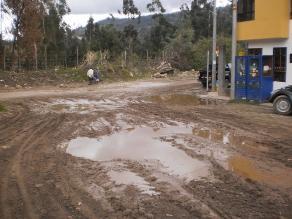 Moyobamba: más de 500 metros de carretera colapsados por lluvias