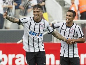 Con Paolo Guerrero: Corinthians derrotó 2-1 a Botafogo SP por Paulistao