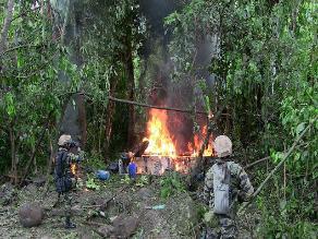 Vraem: destruyen siete pozas de hoja de coca