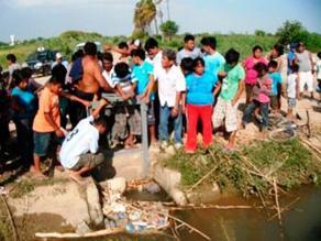 Chiclayo: hallan cuerpo de niño ahogado en canal de Tinajones