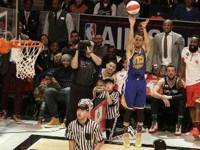 NBA: Stephen Curry ganó el concurso de triples previo al All Star Game