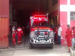 Cusco: entregan moderno camión de rescate a bomberos de Quillabamba