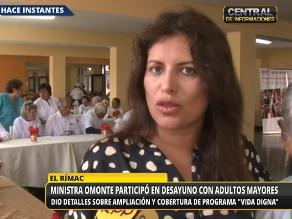 Ministra Omonte condena supuesta agresión de Deza a su esposa embarazada