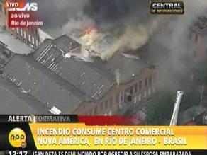 Un incendio consume uno de los mayores centros comerciales de Río de Janeiro