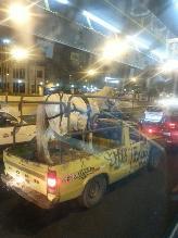 Transportan caballo en plena avenida Javier Prado