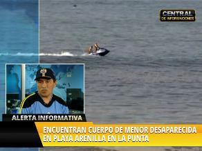 Hallan en La Punta cuerpo de la menor desaparecida en playa de Magdalena
