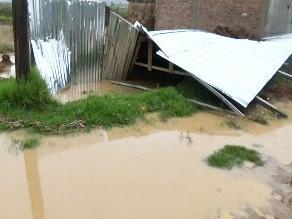 Junín: Una casa desplomada y varias afectadas por inundaciones