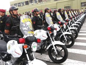 Entregan 600 motocicletas para reforzar patrullaje en Lima y provincias