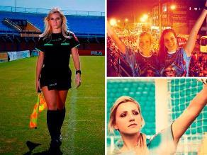 Fernanda Colombo, la hermosa árbitro que deslumbró en el Carnaval de Río
