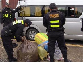 Ayacucho: hallan 250 kilos de hoja de coca que iban a ser transportados