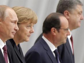 Hollande, Merkel, Putin y Poroshenko acuerdan reforzar el alto el fuego