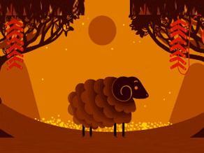 El Año Nuevo Lunar chino: la Cabra iluminando el doodle de Google