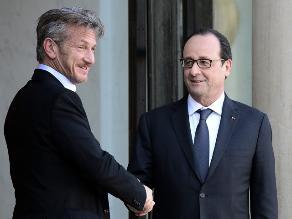 Sean Penn se reunió con Hollande en el Elíseo