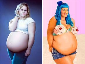 Photoshop: Fotos de famosas con sobrepeso se vuelven virales