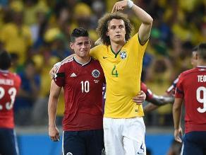 James Rodríguez reveló qué le dijo David Luiz en Brasil 2014