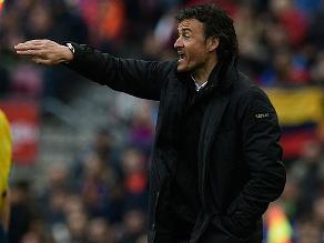 Luis Enrique: La derrota del Barcelona puede ser hasta merecida