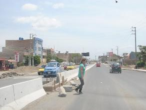 Construirán pases peatonales en obra de autopista Chiclayo- Pimentel