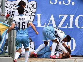 Youtube: Antonio Candreva se lesiona al festejar el triunfo de Lazio