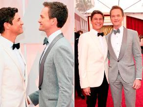 Óscar 2015: Neil Patrick Harris llegó junto a su esposo
