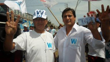 Áncash: Waldo Ríos lleva caravana a Lima para solicitar credencial