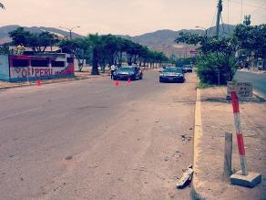 Usan paso a desnivel en avenida Los Alisos para clases de manejo