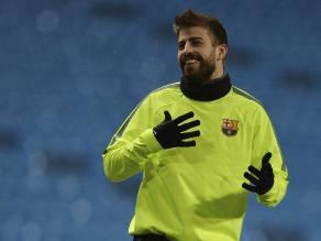 Barcelona vs. Manchester City: Piqué dice que el equipo está con Luis Enrique