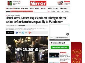 Barcelona: Messi y Piqué se divirtieron en casino tras caer ante Málaga