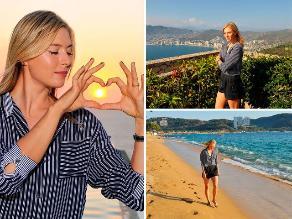 María Sharapova la pasa muy bien en su estancia en Acapulco