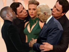 Óscar 2015: Memes por beso de John Travolta a Scarlett Johansson