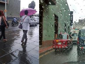 Ciudadanos reportan lluvias en diferentes distritos de Lima