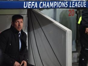 Diego Simeone: Me voy contento pese a caer 1-0 en Champions League