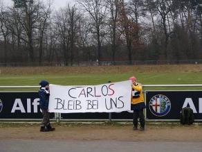 Carlos Zambrano: Niños hinchas del Eintracht le piden que se quede