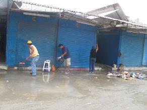 Chiclayo: recogen dos toneladas de basura del mercado central