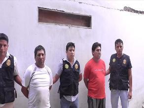 Chincha: PNP captura a sujetos que integraban banda de extorsionadores