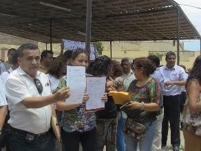 Chiclayo: directores siguen protestando por plazas de trabajo