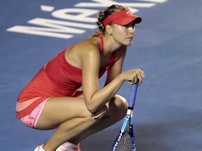 María Sharapova abandonó el Abierto de México por malestar estomacal